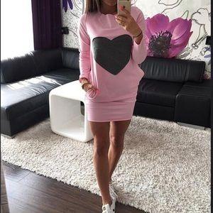 Dresses & Skirts - Fall & Winter Hip Dress Heart Shaped Spliced Dress